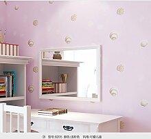 Wapea Blau Kinder Tapete für Wände Cartoon Shell Non-Woven Wand Hintergrund Roll moderne Hintergrundbilder für Schlafzimmer Mädchen Jungen Home Zimmer Rosa 8205