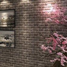 Wapea Chinesische Backstein Tapete 3D-Antike Ziegel Tapeten C