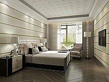 Wapea Einfache Kunstmarmor gestreifte Tapete Schlafzimmer Wohnzimmer Fernseher Sofa Hintergrund Tapete Vlies Papel De Parede 11002