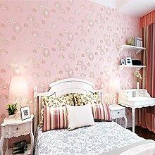 Wapea Kinderzimmer rosa Tapete 3D stereoskopische Dicke Non-Woven Tapeten im Wohnzimmer Hintergrund