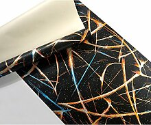 Wapea Ktv Schwarze Tapete Reflektierende bunte Tapeten Bar Ballsaal Themenzimmer Wallpaper 3D 5.3 qm.