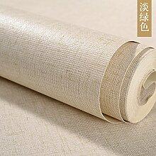 Wapea Modernen Chinesischen Stil Imitation Bettwäsche Uni Tapete Hellgrün
