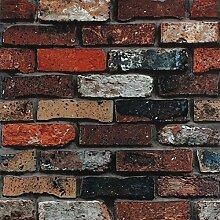 Wapea Stein Stein Tapete für Wohnzimmer chinesische Retro minimalistischen Pvc Faux Backstein Tapete Roll Papel De Parede Roll 5092