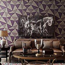 Wapea Tv Hintergrundbild Tief Geprägte Linien Wohnzimmer Schlafzimmer Tapete Viole