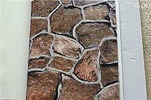 Wapea Wallpaper Roll Ziegel Muster Tapete Stein Muster PVC-Tapeten für Wände 3D Papel De Parede Sala Papier Peint 15183