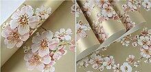 Wapea  Wallpaper Wallpaper Pastoral Schlafzimmer Normalpapier Tapete Wohnzimmer Schlafzimmer Tapete Peach Blossom Syw 10014