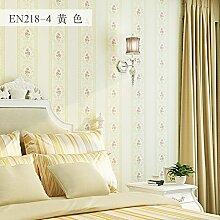 Wapea Warme Und Romantische Schlafzimmer Tapete Mode Im Europäischen Stil Wohnzimmer Vliesstoffe Gelb