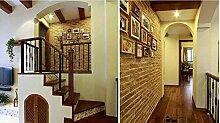 Wapea Wasserdichtem PVC-Imitation Brick Muster Hintergrund Tapete im Wohnzimmer ein