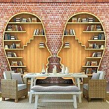 Wapel 3D Bücher Bücherregal Wandbild Tapete für