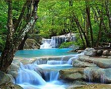 Wapel 3D-Definition Wald Flüsse Wasserfälle