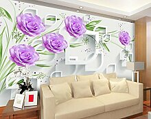 Wapel 3D Flower Tapete Wanddekoration Rose