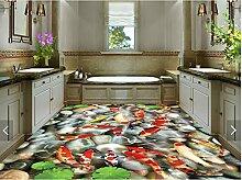 Wapel 3D-gepflasterten Fußböden, 3D-Bodenbeläge,_3D Schindel Bodenbeläge, kundenspezifische Aufkleber 100 X 100 Cm
