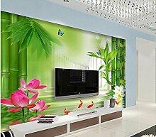 Wapel 3D Tapete Für Zimmer Bambus Lotus