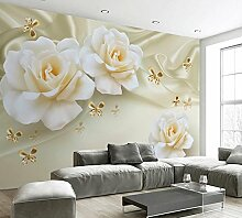 Wapel 3D Tapete Für Zimmer Rose Seide