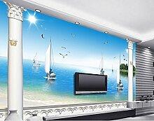 Wapel 3D Tapete Für Zimmer Strand Segelboot