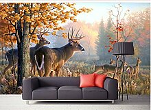 Wapel 3D Tapete Natur Wald Elk 3D Tapete Moderne