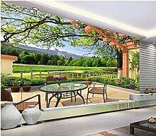 Wapel 3D Wallpaper 3D Landschaft Pavillon Malerei Wohnzimmer Hintergrund Wand Foto Wallpaper Für Wände Custom 3D Wallpaper Seidenstoff 250x175CM