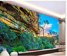 Wapel 3D-Wandbilder Home Dekoration Einzigartige Landschaft Hintergrund Modernes Wohnzimmer Wallpaper Wandbild 3D-Bilder Seidenstoff 300x210CM
