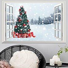Wapel Der Schnee Christmas Tree Können Die Aufkleber Aufkleber Pvc 49 X 72 Cm Entfernen