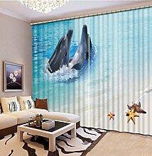 Wapel Hochwertige 3D-Druck Vorhänge Lebensechte Hd-Visuelle 3D-Genuss Vorhänge Schlafzimmer Wohnzimmer Sonnenschutz Fenster Vorhang 240X320CM