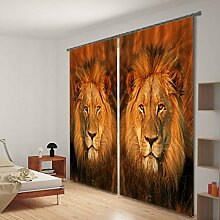 Wapel Löwe Malerei Verdunkelungsvorhänge Betten