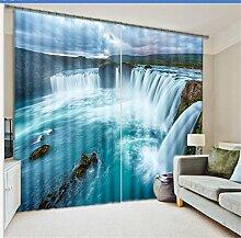 Wapel Schönen Wasserfall 3D-Gardinen Set Für