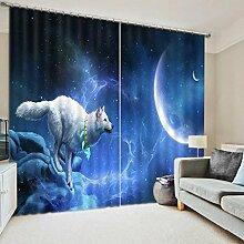 Wapel Tier Gardinen Betten Wohnzimmer 3D Wolf