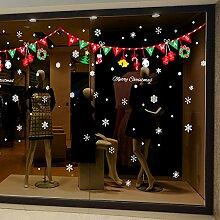 Wapel Weihnachten Aufkleber Papier Store Glastür