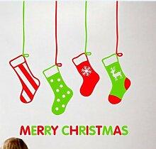 Wapel Weihnachten Shop Shop Fensteraufkleber Ein
