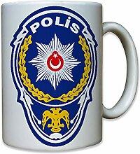 Wappen der Türkischen Polizei - Tasse Kaffee