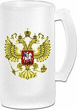 Wappen Russische mattierte Bierkrüge