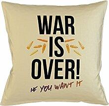 War Is Over If You Want It Peace Schlafsofa Home Décor Kissen Kissenbezug Fall Beige