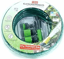 Warenfux24 Gartenschlauch Komplett Set, 15m mit
