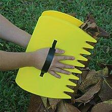 WARKHOME Leaf Schaufeln,Hand Blatt Rechen, Kunststoff Scoop Gras und Leaf Collector für Garten, Unsinn,, Gute Werkzeug (2er Pack)