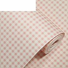 warm und pastorale/Pink Plaid Vliestapete/Wohnzimmer Wand zu Wand Tapete/Schlafzimmerwände-B