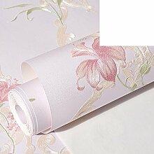 warm und pastorale/Reichsexekutionsordnung non-Woven Tuch Tapete/Schlafzimmer Wohnzimmer Tapete/koreanischen Stil frischen Blumen Tapete-E