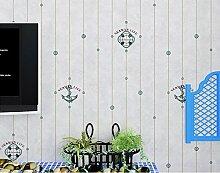 Warmen mediterranen gestreiften Hintergrund Wand tapezieren 0,53 m * 10 m,Hellgrau