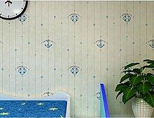 Warmen mediterranen gestreiften Hintergrund Wand tapezieren 0,53 m * 10 m,Beige