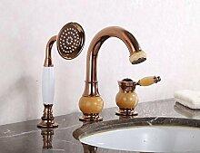 Warmes und kaltes Waschbecken Wasserhahn