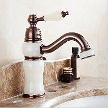 Warmes und kaltes Wasser Wasserhahn Gold Braun