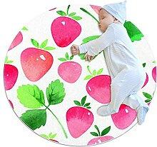 WARMFM Erdbeermuster Kinder Spielplatz Teppich