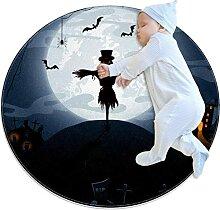 WARMFM Halloweennacht Kinder Spielplatz Teppich