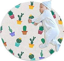 WARMFM Kaktusblüten Kinder Spielplatz Teppich