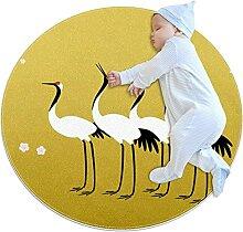 WARMFM Kranichvögel Kinder Spielplatz Teppich