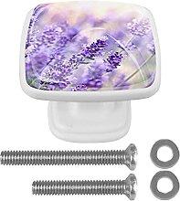 WARMFM Lavendel 4er-Pack Kommode Schrankgriffe