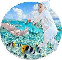WARMFM Unterwasserfische Kinder Spielplatz Teppich