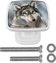 WARMFM Winterwolf 4er-Pack Kommode Schrankgriffe