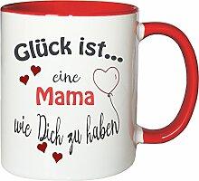 WarmherzIch Becher Tasse Glück ist… Mama Kaffee