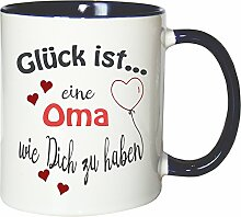 WarmherzIch Becher Tasse Glück ist… Oma Kaffee