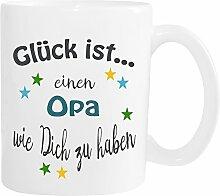 WarmherzIch Becher Tasse Glück ist… Opa Kaffee